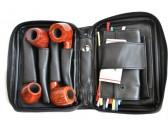 Сумка трубочная Brebbia 10056B  на 4 трубки черная (винил)