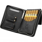 Сигарная сумка из натуральной кожи Аdorini Cigar bag real leather black yarn