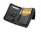 Сигарная сумка из натуральной кожи Аdorini Cigar bag real leather Red  yarn