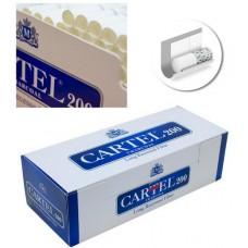 Сигаретные гильзы Cartel Long Recessed Filter - 200 шт. (угольные)
