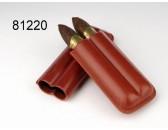 Футляр  для  2 сигар  Angelo экокожа коричневый