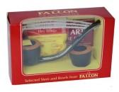 Трубка Falkon 622123203 гнутая, набор, 2 чашки, 3 ерша