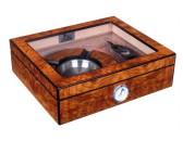 Хьюмидор Lubinski на 25 сигар со стеклом и подарочным набором, Вяз матовый