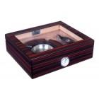 Хьюмидор Lubinski на 25 сигар со стеклом и подарочным набором, Эбеновое дерево