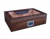 Хьюмидор  Lubinski на 50 сигар cо стеклом и магнитными перегородками, Орех