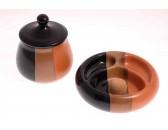Набор из банки для табака и пепельницы Lubinski, керамика