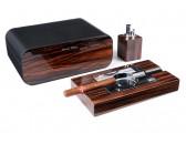 Настольный набор сигарных аксессуаров Gentili -  SET-SV40-LE-Black