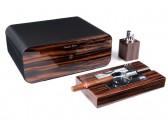 Настольный набор сигарных аксессуаров Gentili - SET-SV75-LE-Black