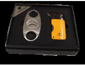 Подарочный набор: гильотина и зажигалка с пробойником Aficionado AFNL 709-SET