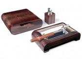 Настольный набор сигарных аксессуаров Gentili - SET-SV20-Croco-Dark