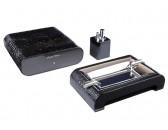 Настольный набор сигарных аксессуаров Gentili - SET-SV20-Croco-Black