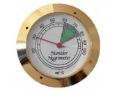 Гигрометр механический 43 мм, золото