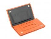 Кисет CHACOM для сигаретного табака CC009 оранжевый (кожа)