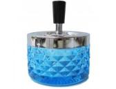 Пепельница  Deluxe Ashtray вращающаяся стекло, 95 мм, синяя