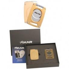 Подарочный набор Каттер и зажигалка Xikar 907 Ultra Combo Gold
