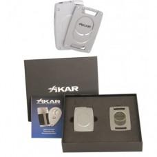 Подарочный набор Каттер и зажигалка Xikar 907 Ultra Combo Silver
