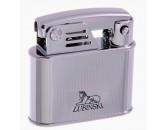 Зажигалка Lubinski Bassano кремневая Silver в полоску