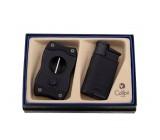Подарочный набор зажигалка и каттер, Evo, черный